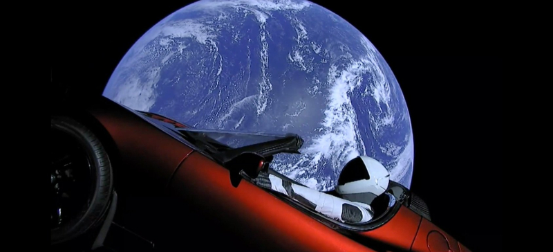 Starman live view falcon heavy spacex